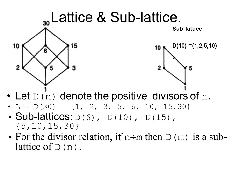 Computing fundamentals 2 lecture 4 lattice theory ppt download let dn denote the positive divisors of 58 hasse diagram ccuart Choice Image