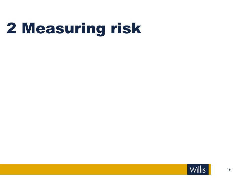 2 Measuring risk