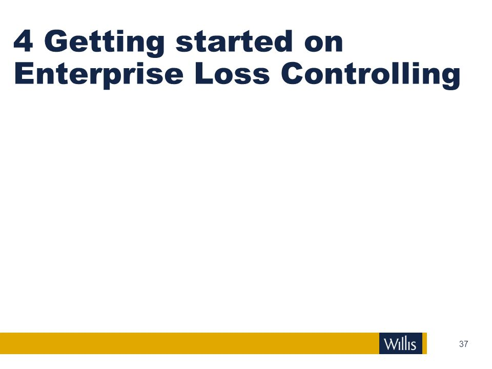 4 Getting started on Enterprise Loss Controlling