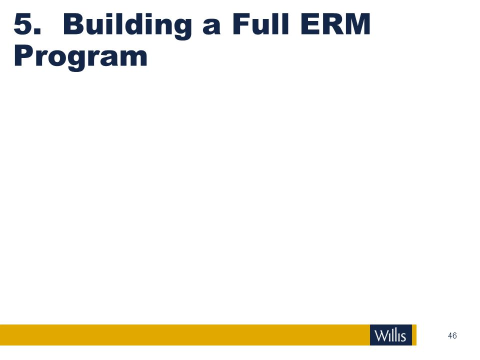 5. Building a Full ERM Program