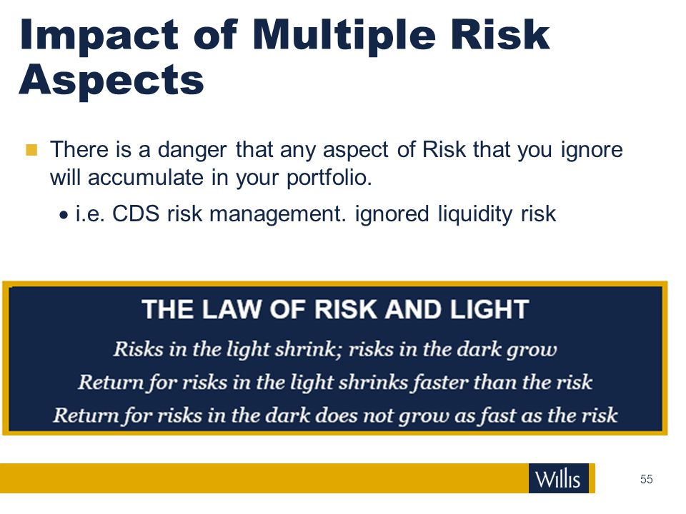 Impact of Multiple Risk Aspects