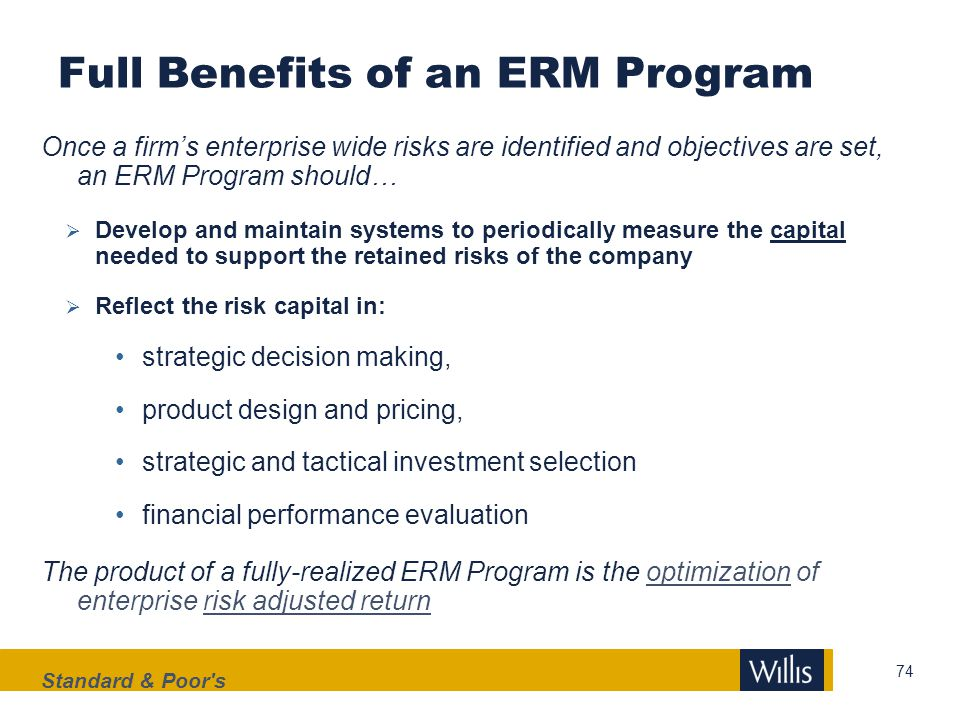Full Benefits of an ERM Program