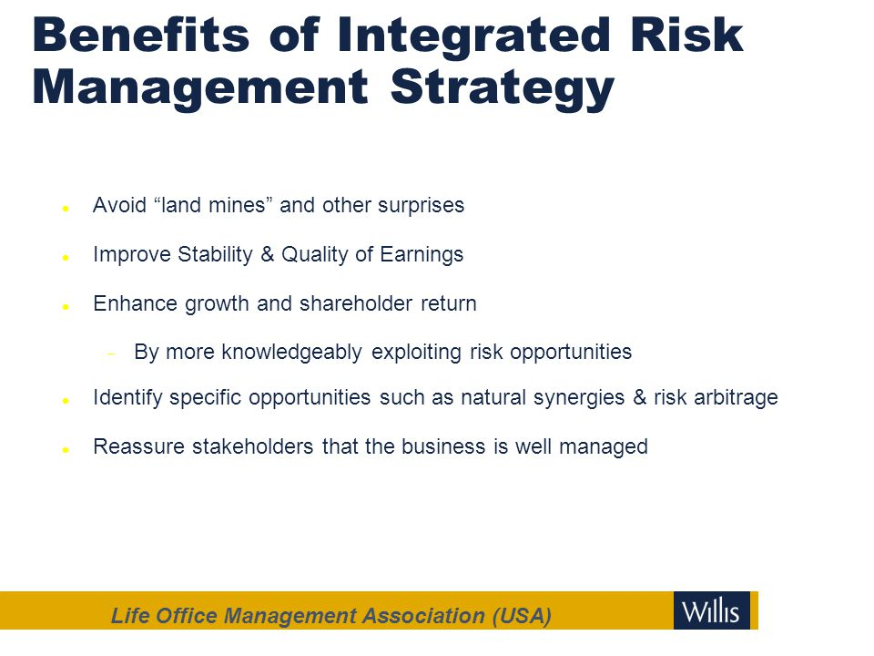 Benefits of Integrated Risk Management Strategy