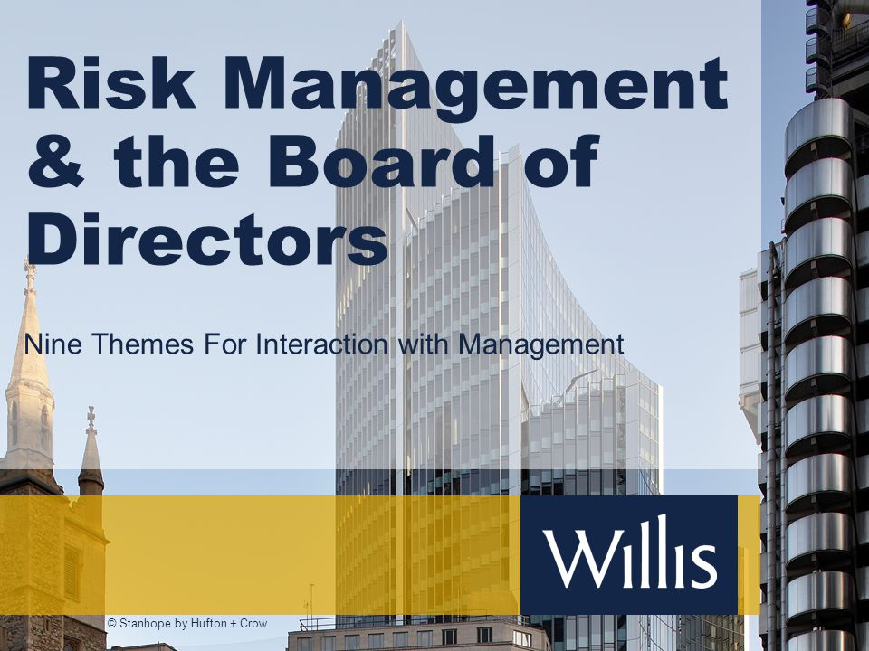 Risk Management & the Board of Directors