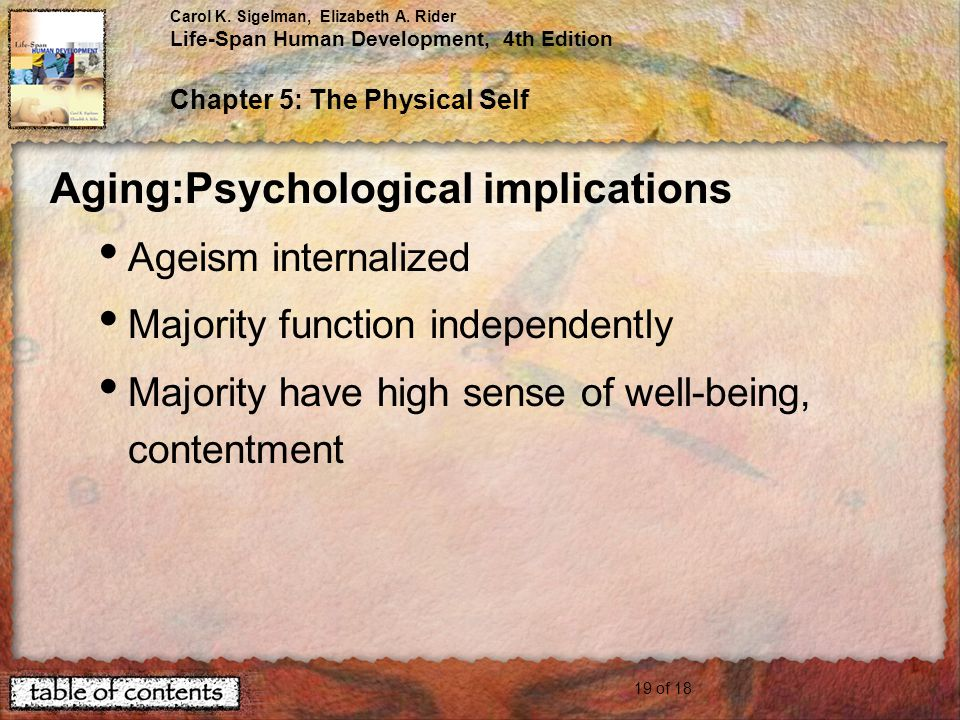 Aging:Psychological implications