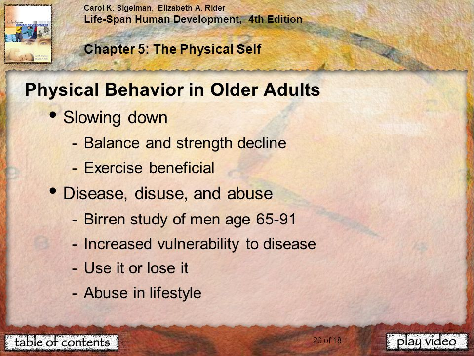 Physical Behavior in Older Adults