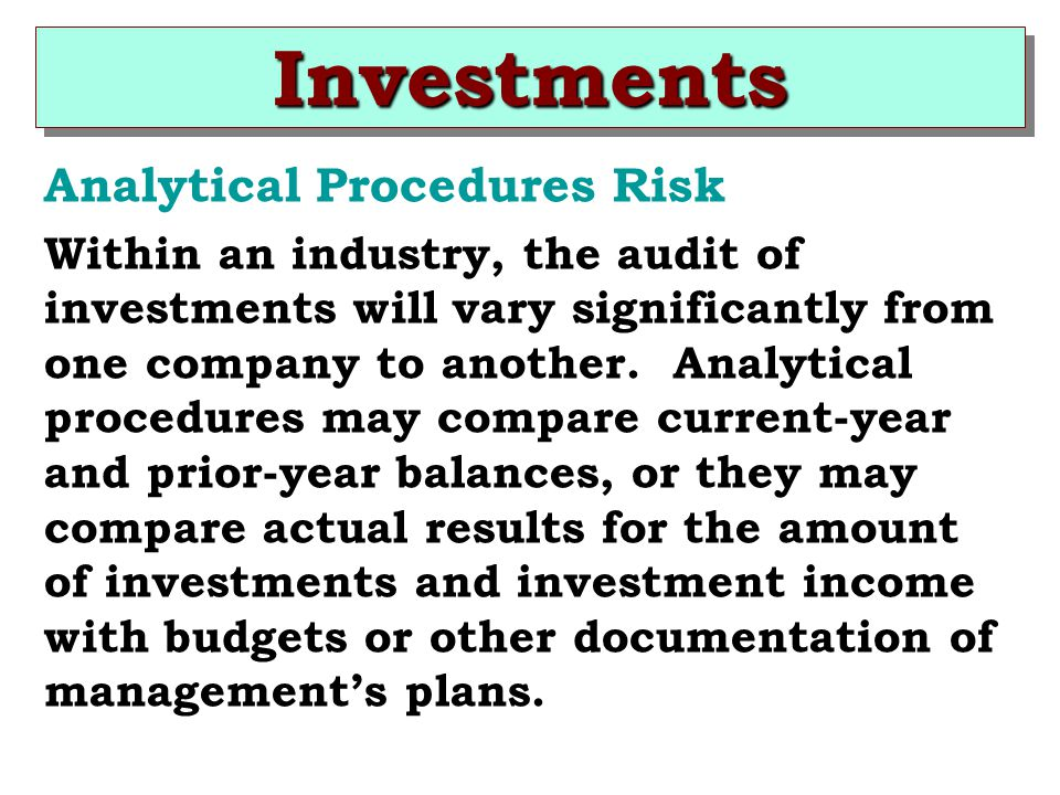 Investments Analytical Procedures Risk