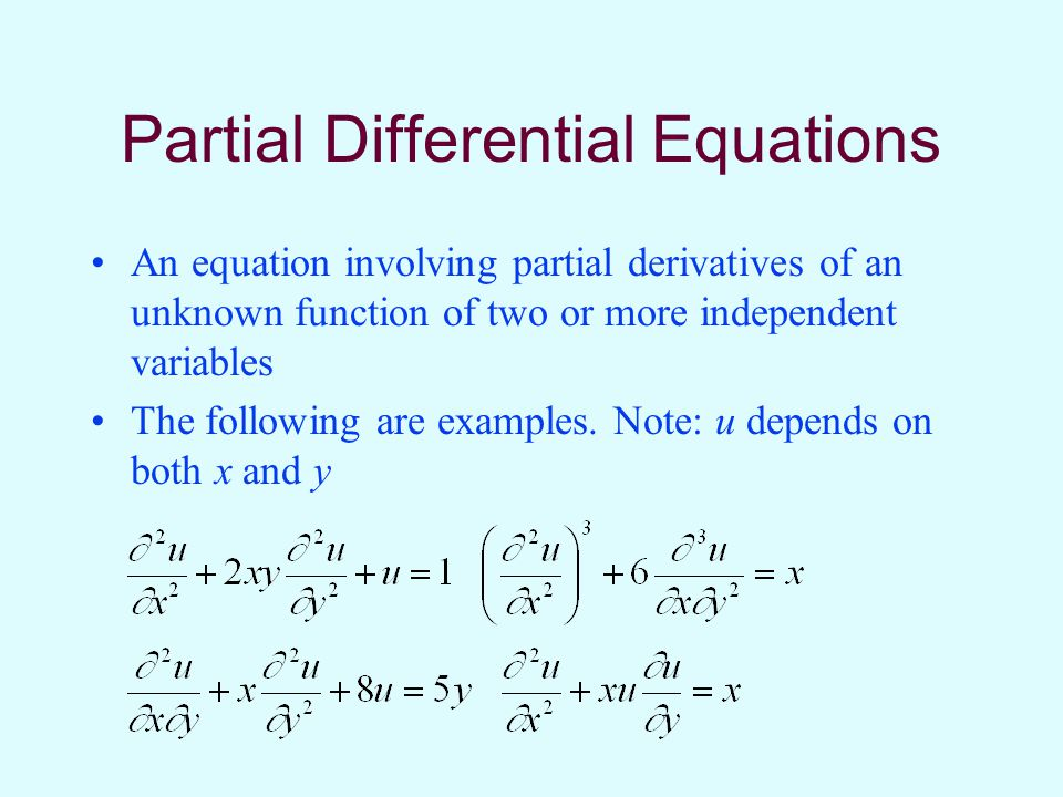 Partial Differential Equations Ppt Video Online Download
