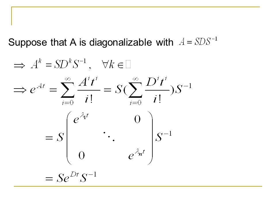 Suppose that A is diagonalizable with