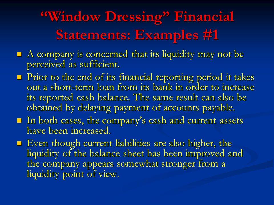 window dressing examples