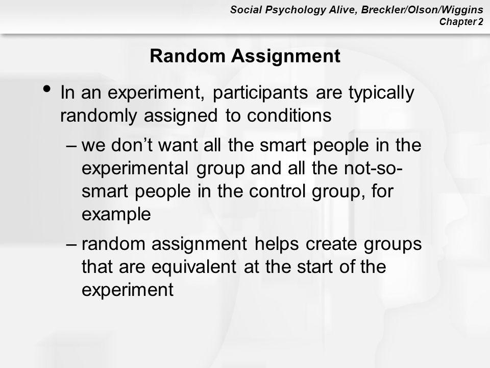 assignment psychology