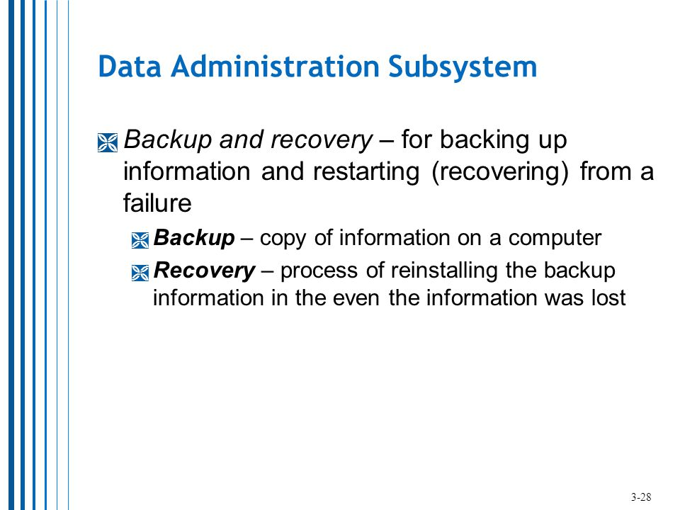 Data Administration Subsystem