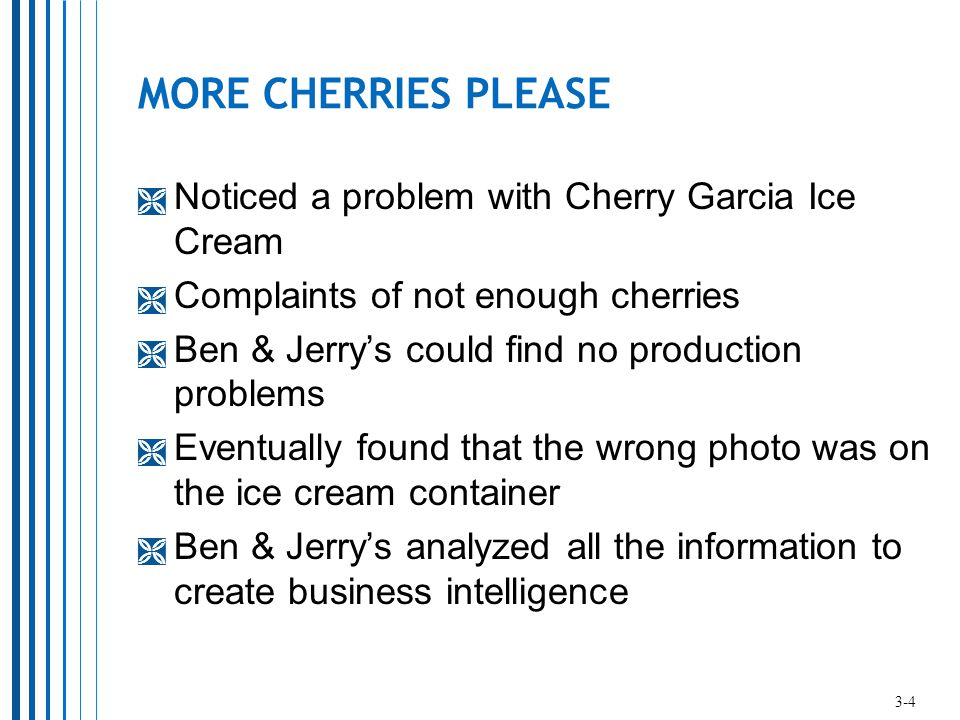 MORE CHERRIES PLEASE Noticed a problem with Cherry Garcia Ice Cream