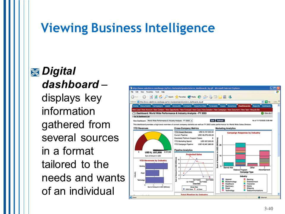 Viewing Business Intelligence