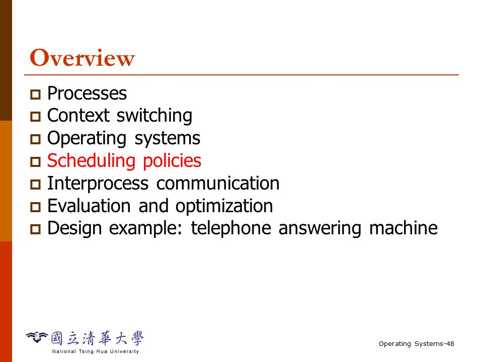 Overview processes context switching operating systems ppt download.