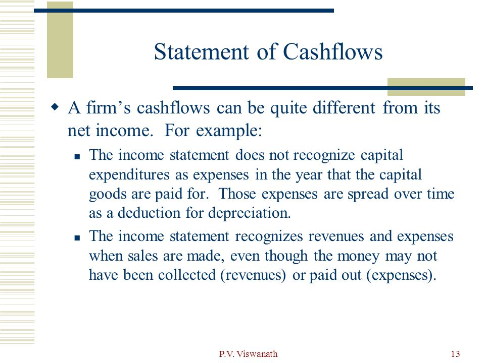 Statement of Cashflows