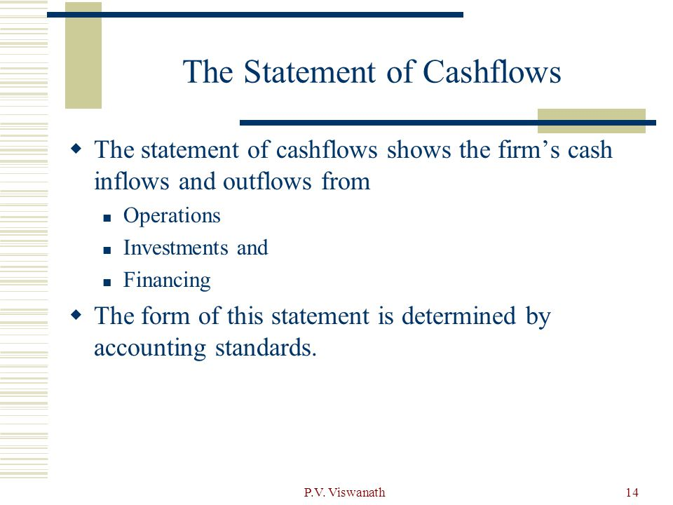 The Statement of Cashflows