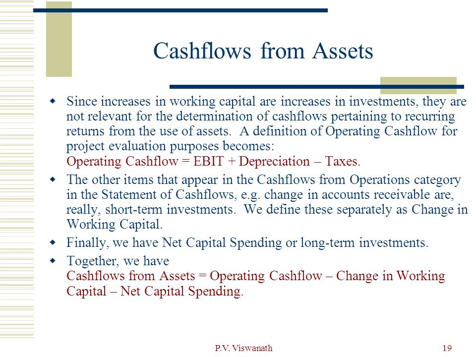 Cashflows from Assets