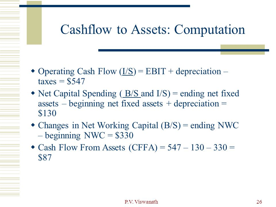 Cashflow to Assets: Computation