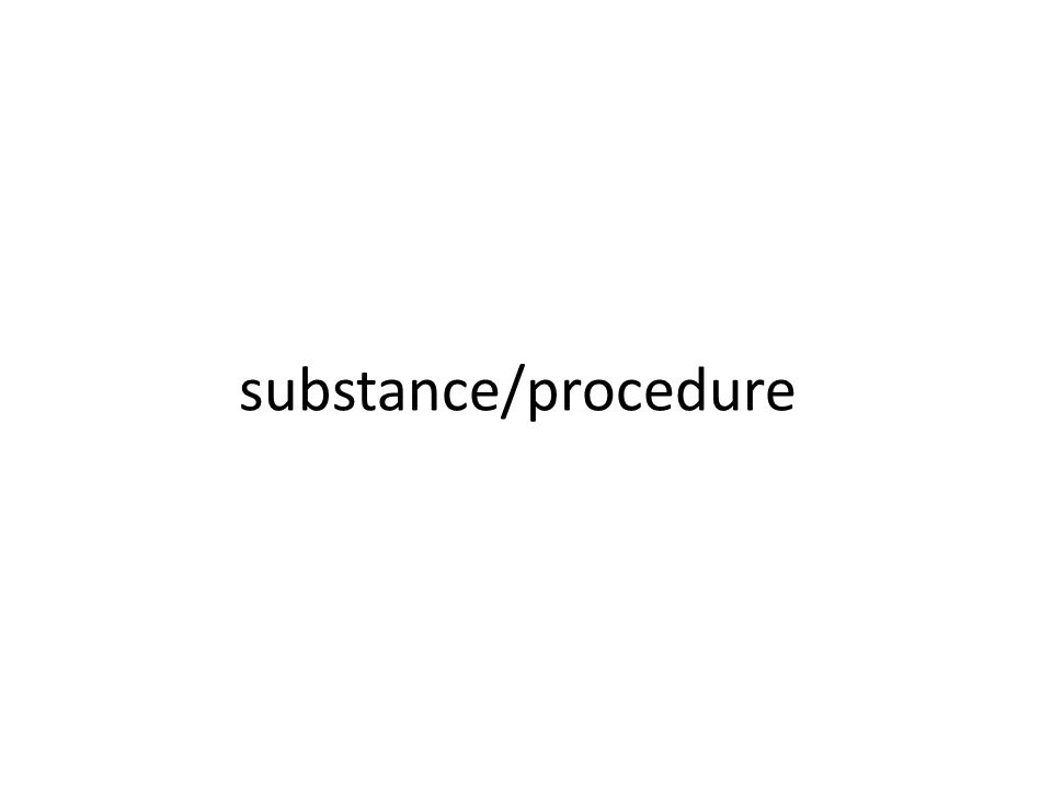 substance/procedure