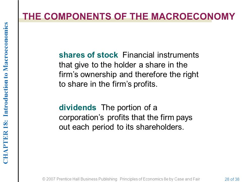 THE COMPONENTS OF THE MACROECONOMY