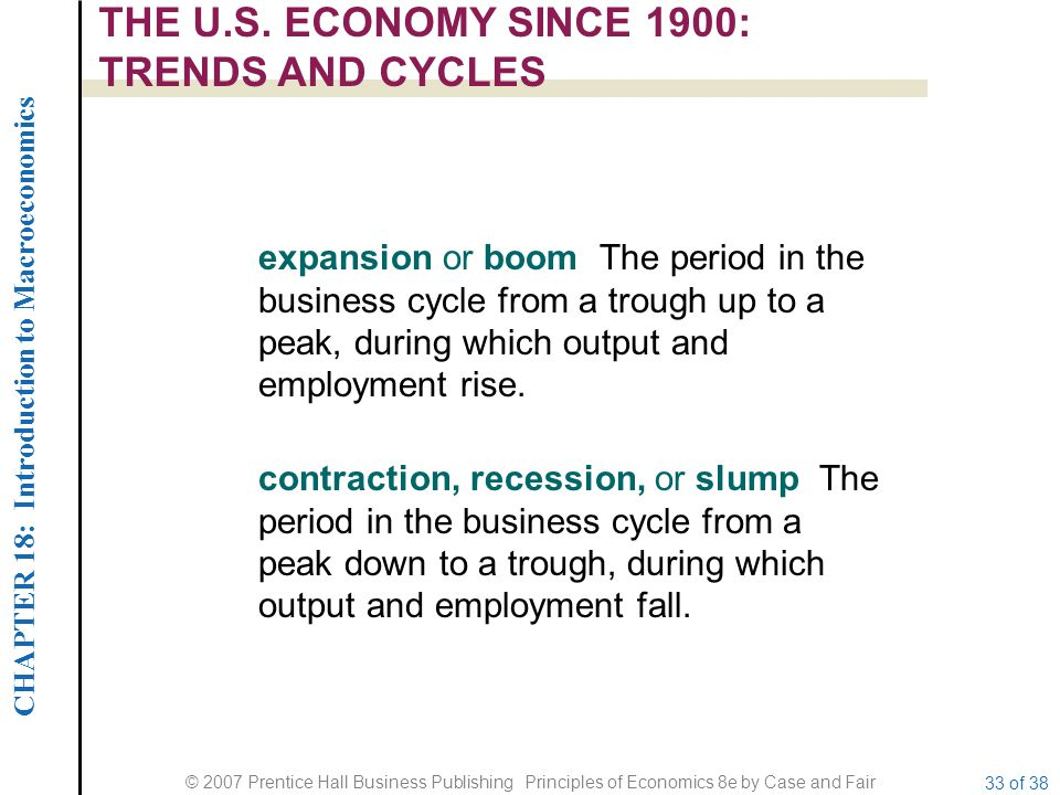 THE U.S. ECONOMY SINCE 1900: TRENDS AND CYCLES
