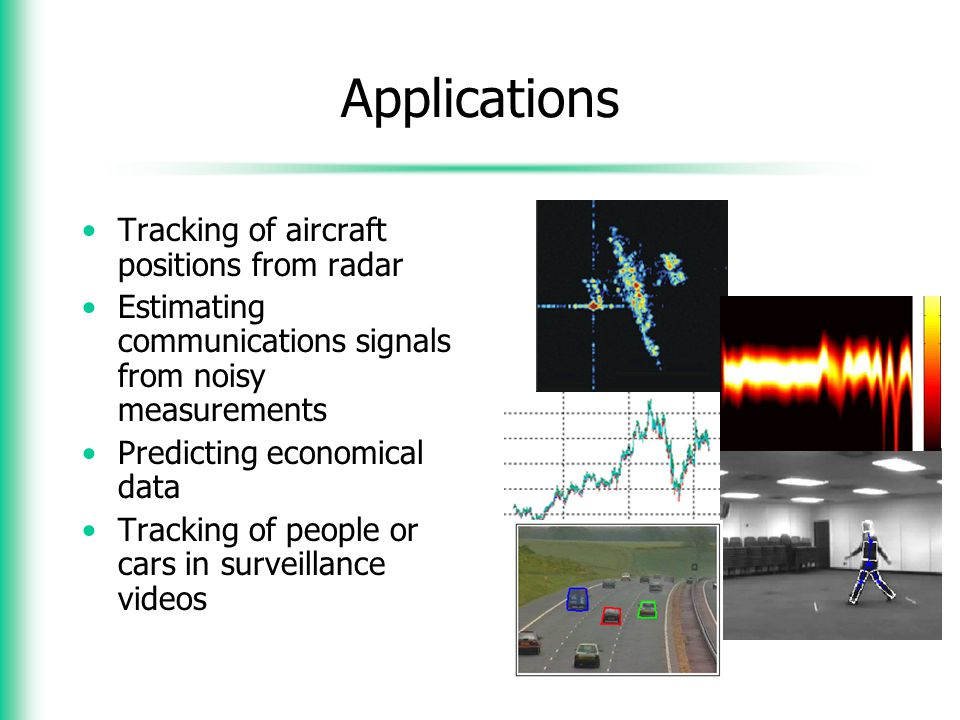Applications Tracking of aircraft positions from radar