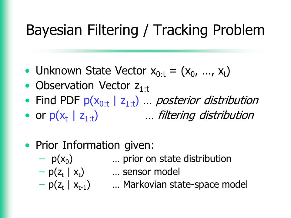 Bayesian Filtering / Tracking Problem