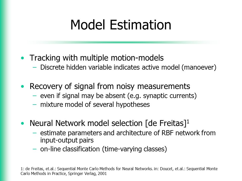 Model Estimation Tracking with multiple motion-models
