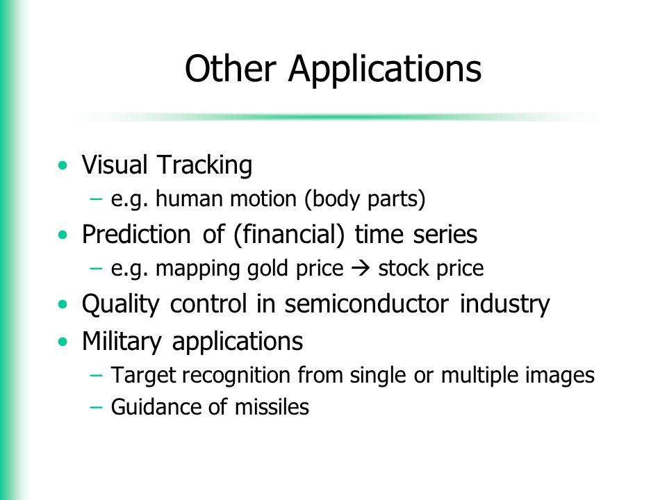 Other Applications Visual Tracking