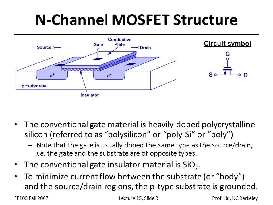 lecture 15 outline mosfet structure operation qualitative ppt rh slideplayer com