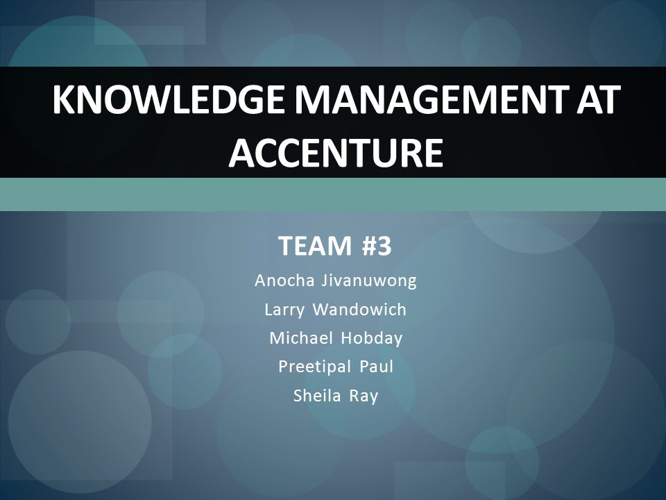 knowledge management case study slideshare