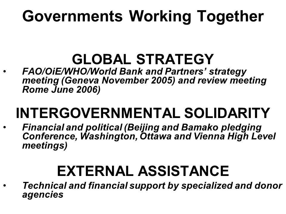 Governments Working Together