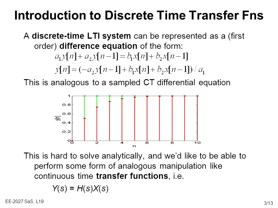 Introduction to Discrete Time Transfer Fns