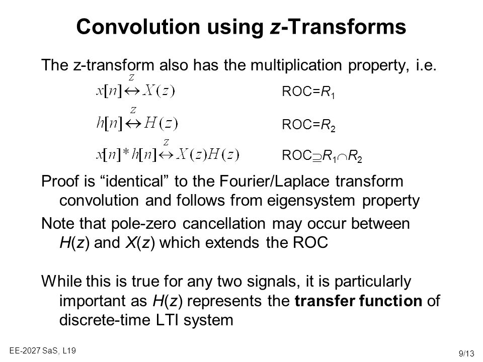 Convolution using z-Transforms