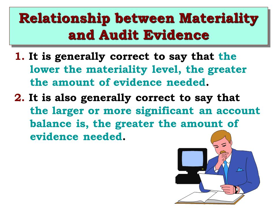 Relationship between Materiality and Audit Evidence