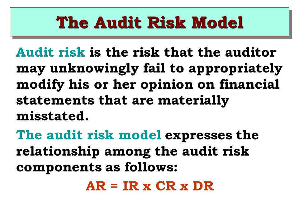 The Audit Risk Model