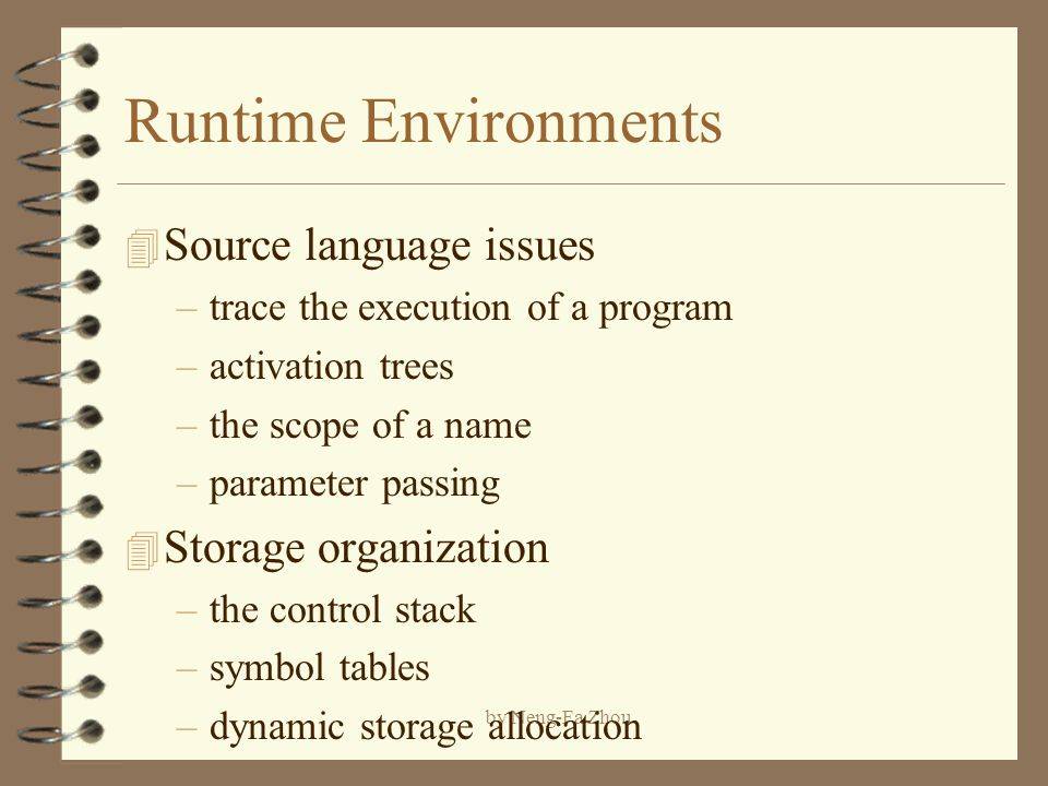 Runtime Environments Source Language Issues Storage Organization Ppt Download