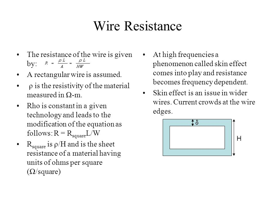 the resistance of a piece of wire essay Let the resistance r of a piece of wire be a thermometric property for measuring the temperature t assume that r= at+b where a and b are constants the resistance of the wire is found to be 5 ohms when it is at the temperature of melting ice and 6 ohms when it.