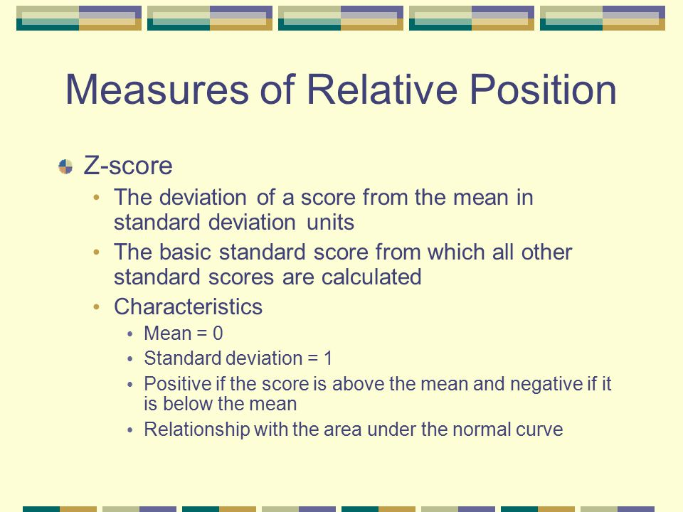 Measures of Relative Position