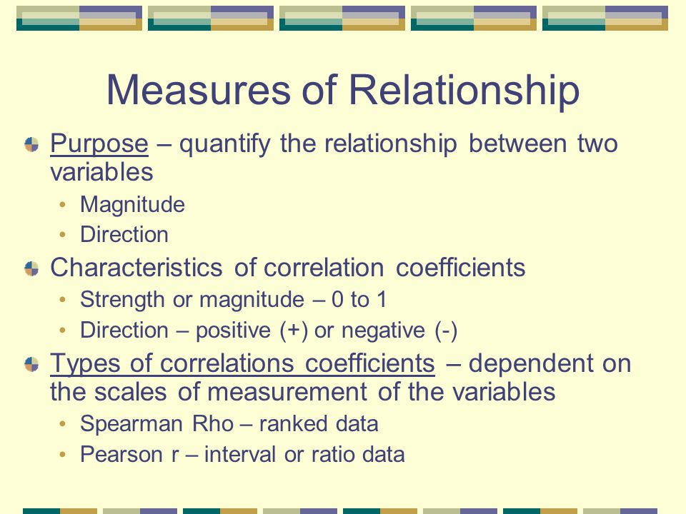 Measures of Relationship