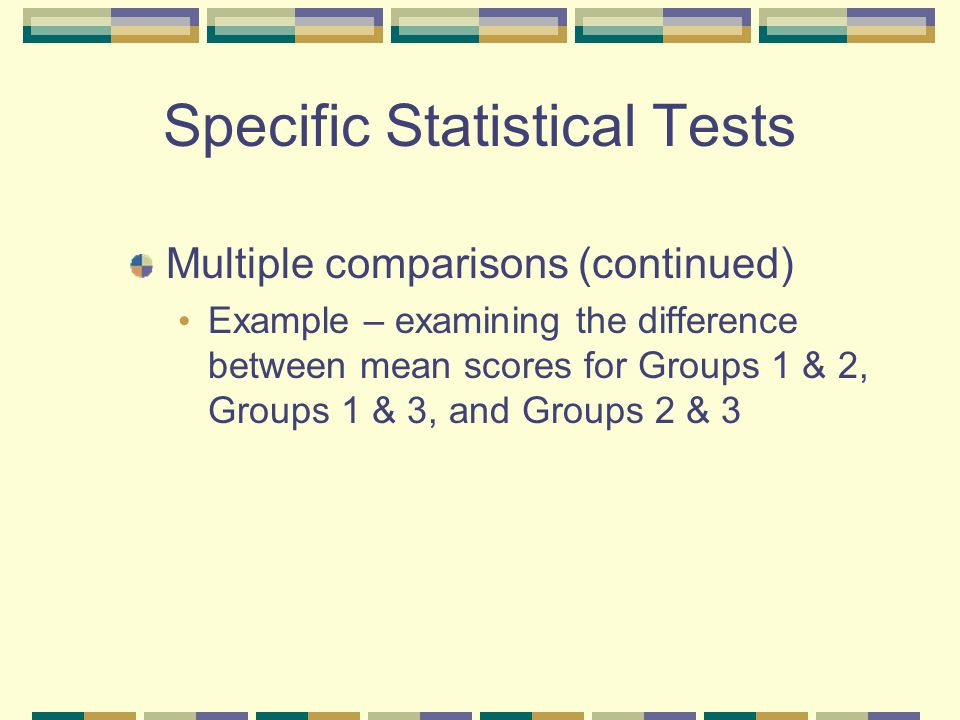 Specific Statistical Tests