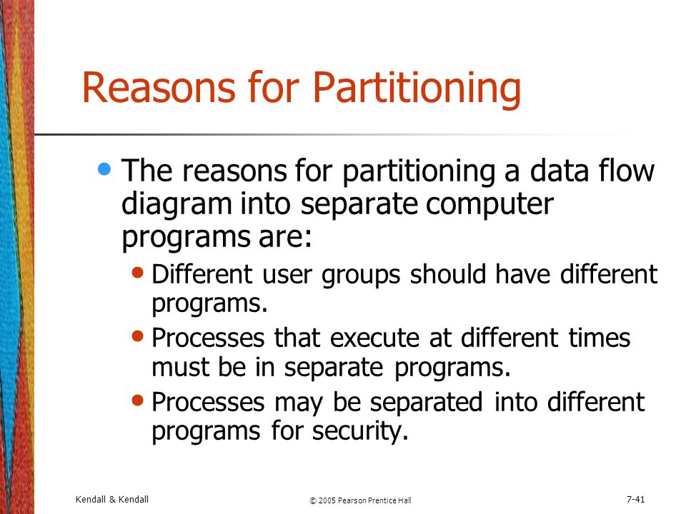 Reasons for Partitioning