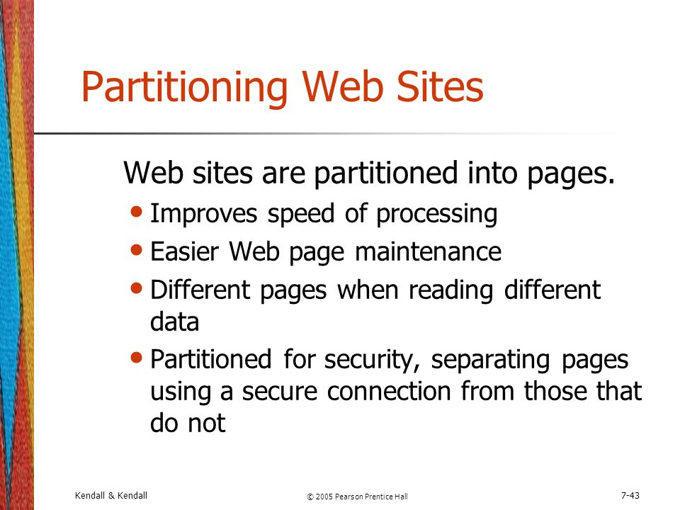 Partitioning Web Sites