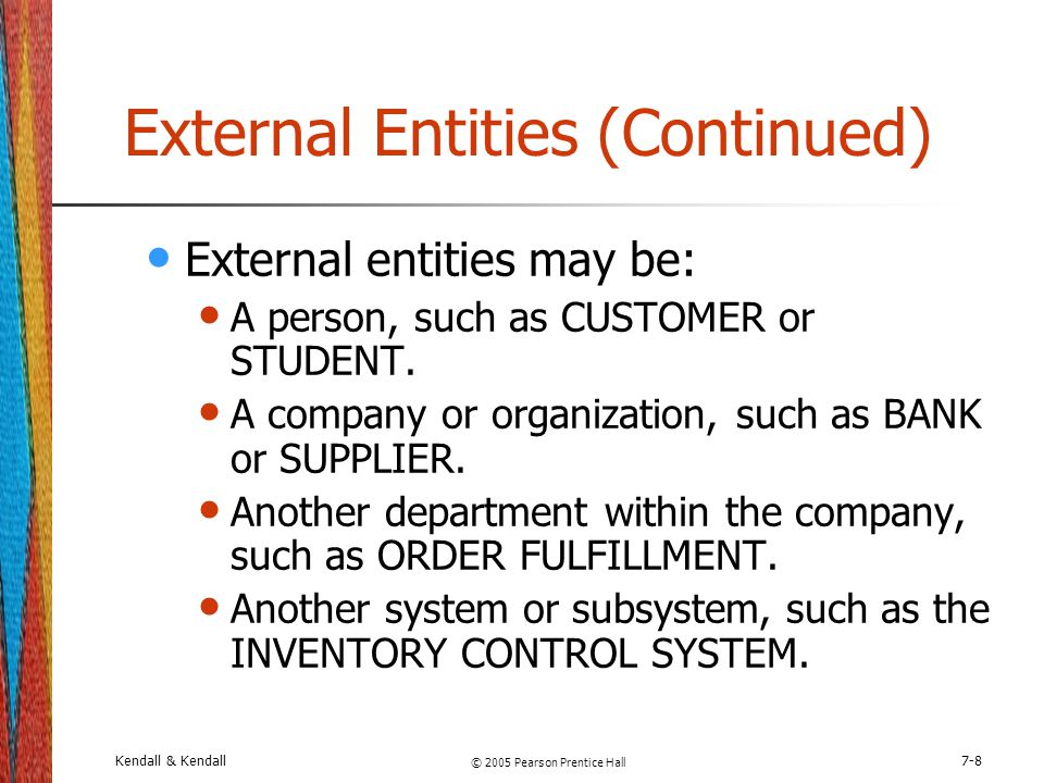 External Entities (Continued)