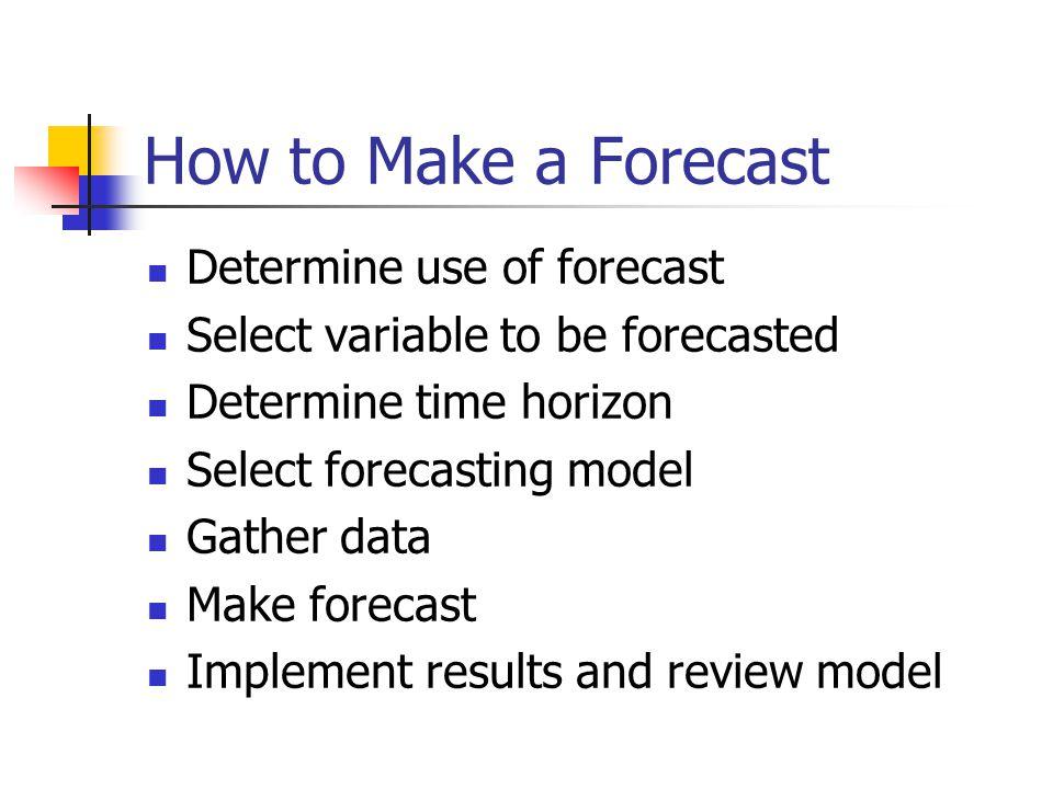 how to make a forecast