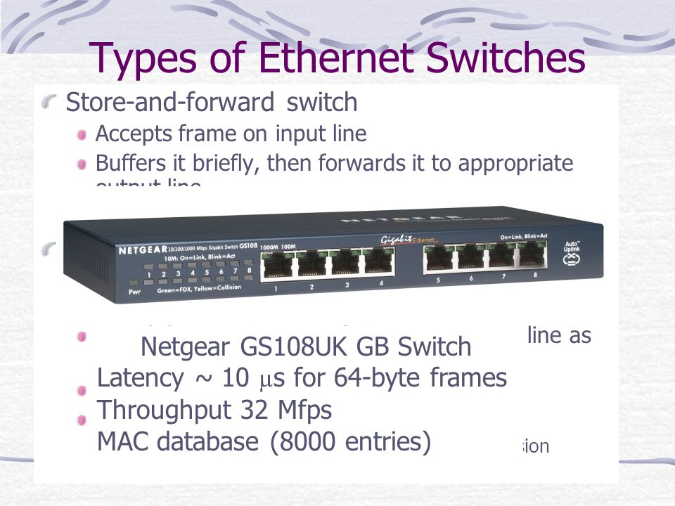Types of Ethernet Switches
