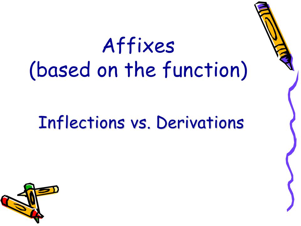 Affixes (based on the function)