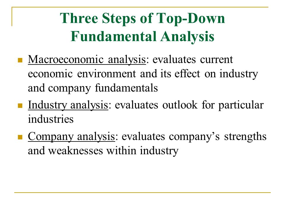 Fundamental Analysis Chapter 7 - ppt video online download