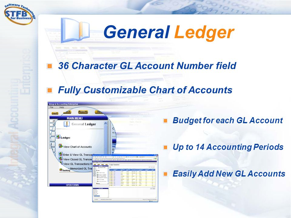 General Ledger 36 Character GL Account Number field